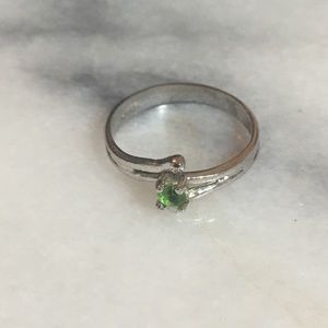 Antique Toddler/child Silver Peridot ring